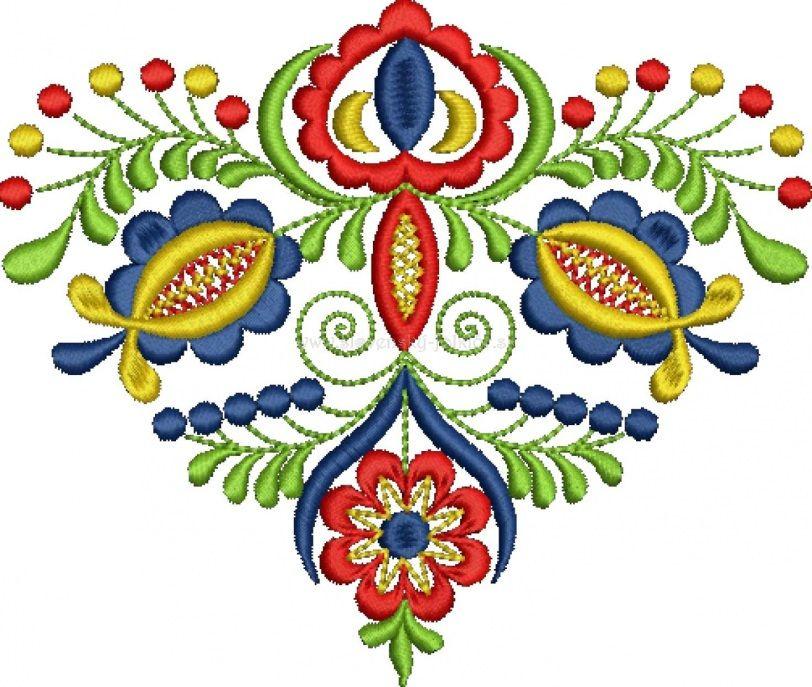 Slovak folk embroidery from Vajnory | Vysivka 2 | Pinterest