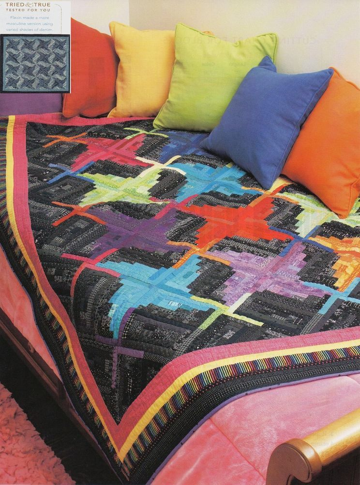 "Stepping Out in Color     Finished  Size - 78""x78""     Quilt  Pattern Only #OriginalMagazinePages"