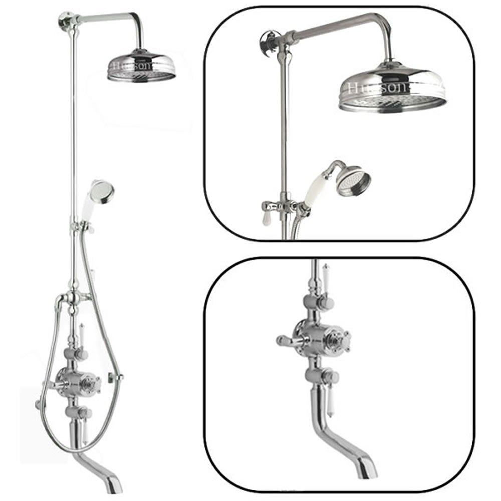 Traditional Thermostatic Shower System with Rigid Riser & Bath ...