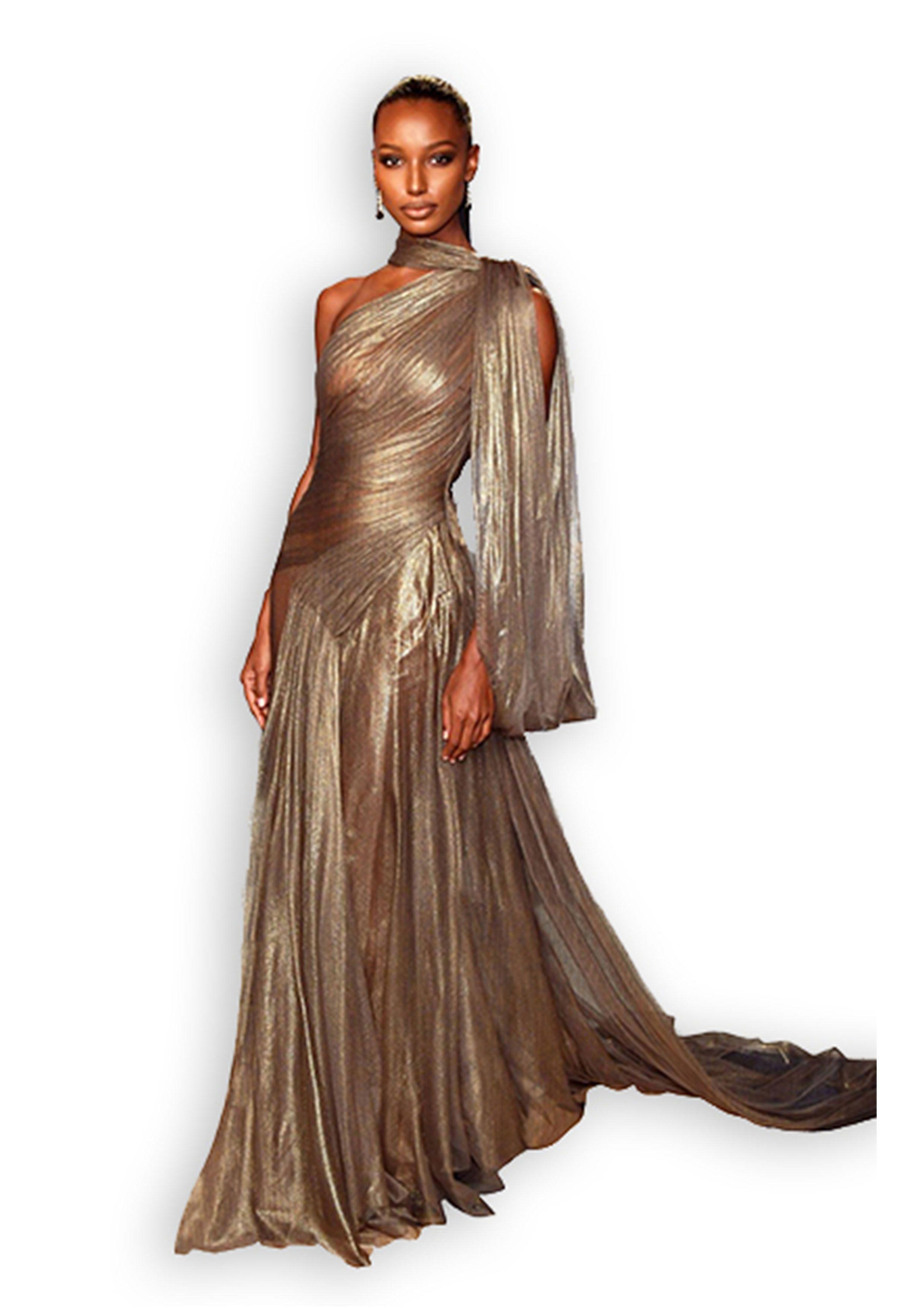Jasmine Tookes In Jean Louis Sabaji At The Vanity Fair Oscars Party