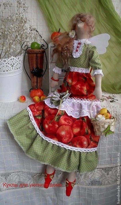Куклы Тильды ручной работы. Ярмарка Мастеров - ручная работа Яблочная фея. Handmade.
