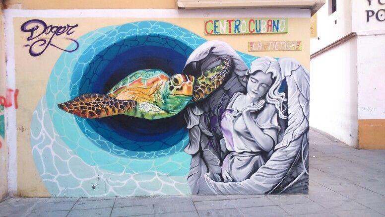 Grafiti de Doger, Málaga centro, alrededores de Plaza de Camas.