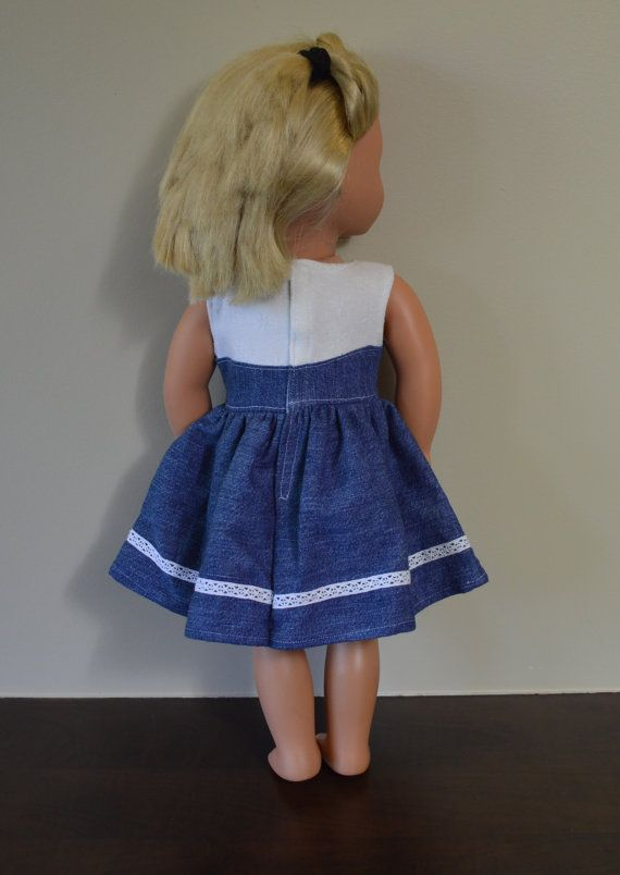 BARBIE SKIRT WHITE LACE SKIRT WITH BLUE UNDERLAY Dolls & Bears