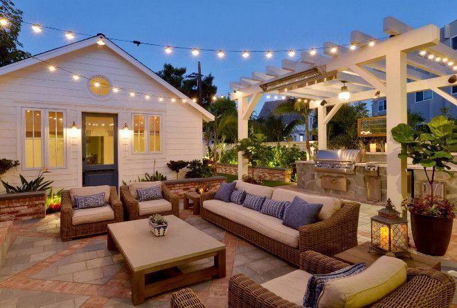 Farmhouse patio with outdoor kitchen under pergola - Craigslist danville farm and garden ...