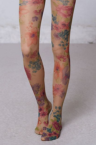 I can think of 20 outfits these Hansel From Basel Flora Tights from Anthropologie would look great with