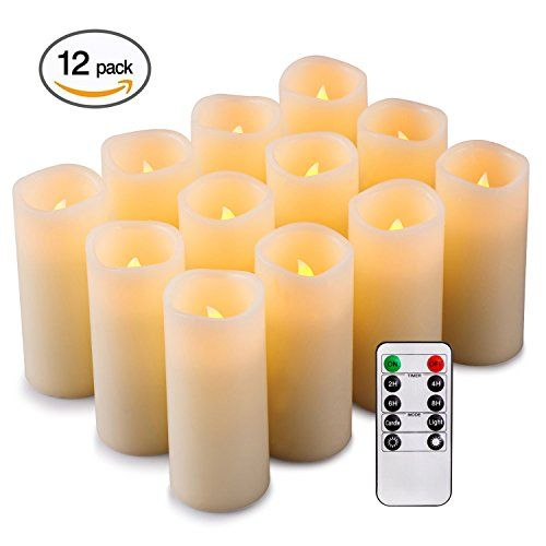 Flameless Votive Candles Enpornk Flameless Candles Battery Operated Led Pillar Reahttps