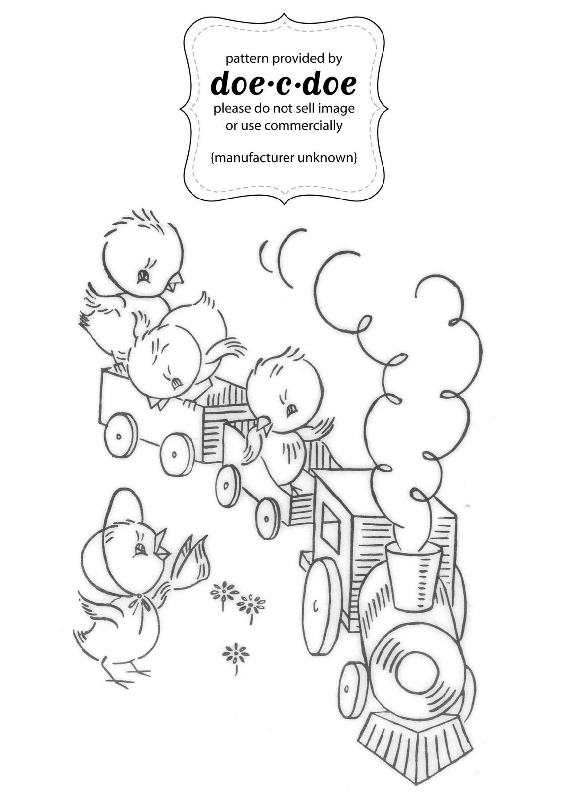 Baby Chicks on a Train | In Stitches | Pinterest | Bordado, Dibujos ...
