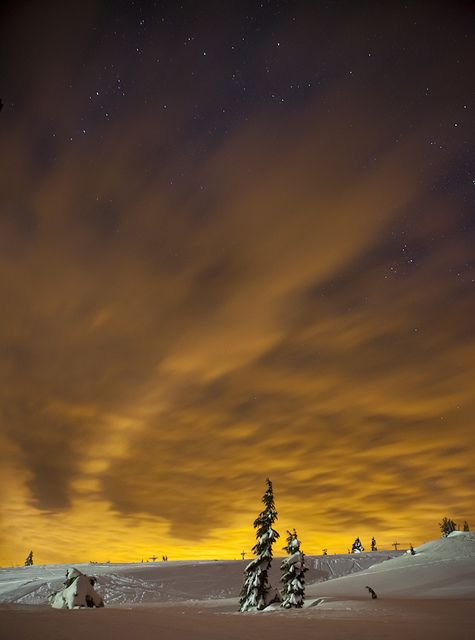 the sky was glowing, Fiery Snow, by Ben Canales