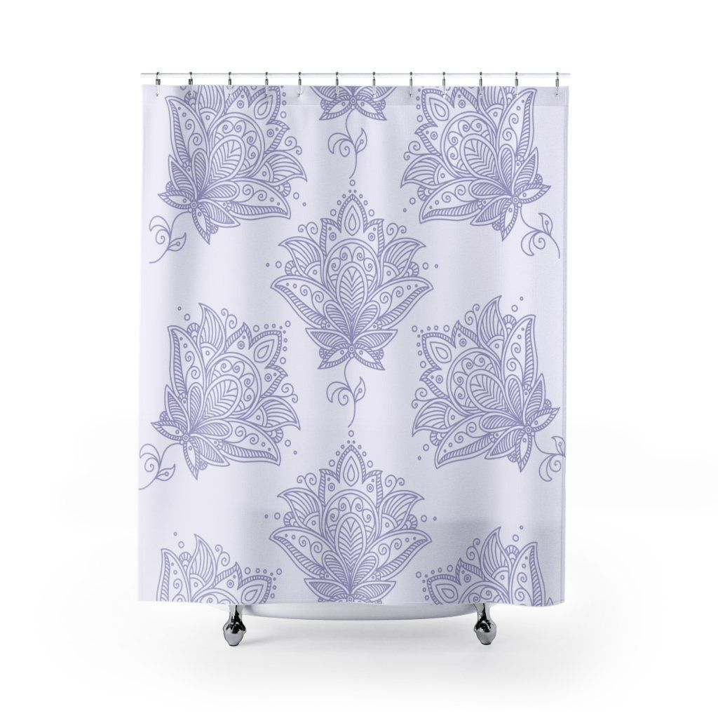 Photo of Lavender Shower Curtain – 71 × 74
