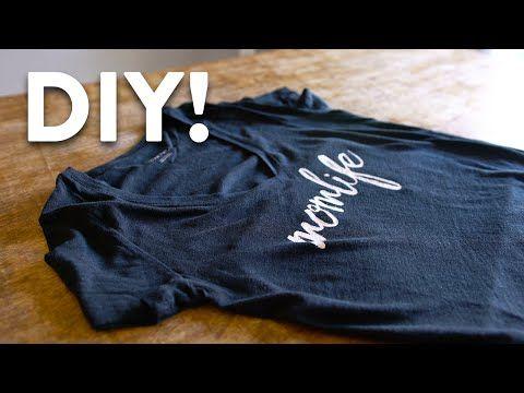 269107ae DIY Custom T-Shirt Printing Tutorial - Made Easy! - YouTube | sewing ...