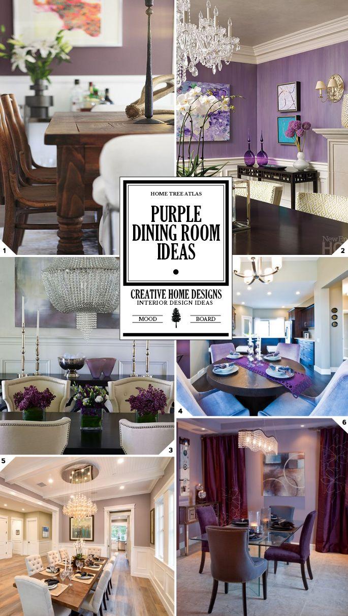 Color Guide Purple Dining Room Decor Ideas Home Tree Atlas Purple Dining Room Purple Dining Room Walls Dining Room Decor