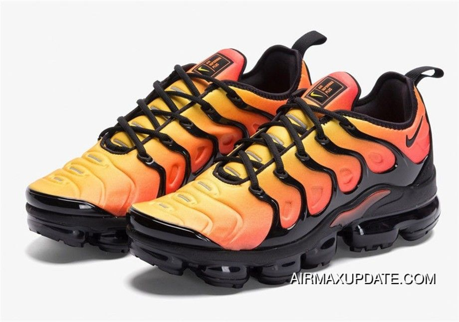 buy online f0e31 29620 2019 的 Mens Nike Air Vapormax Plus Sunset Shoes Black/Total ...