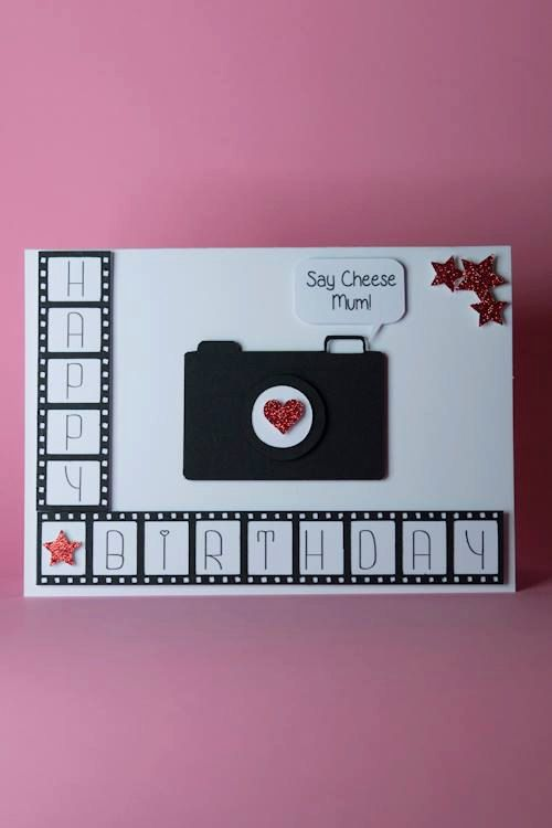 Handmade Camera With Film Photography Birthday Card Ideal For Any Photographers Size