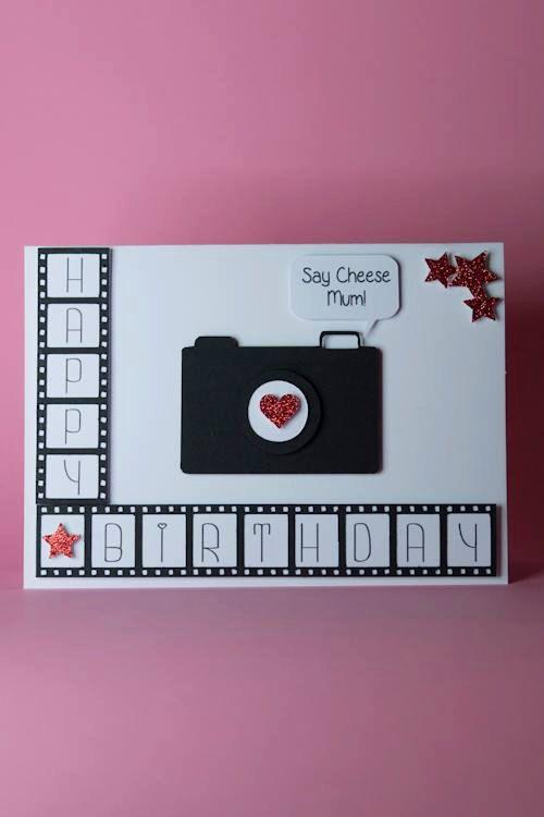 Camera Film Photography Handmade Birthday Card Photographer