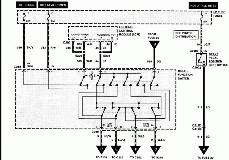 1998 Lincoln Town Car Alternator Wiring Diagram and ...