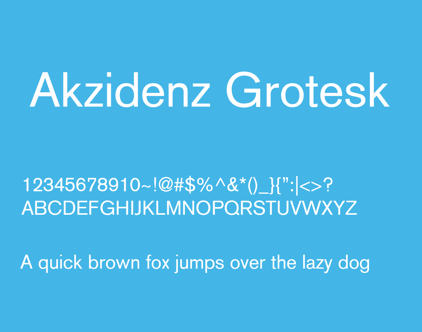 Akzidenz Grotesk Font Family Free Download | Fonts for