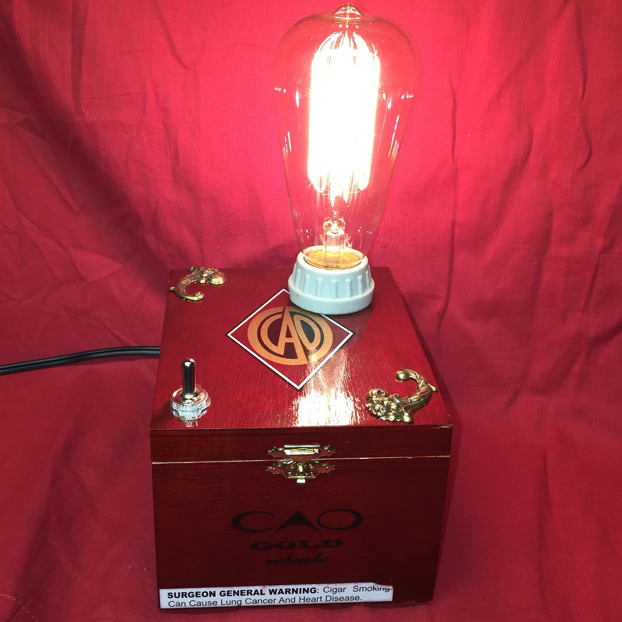 Cigar box lamp for sale