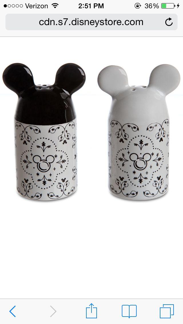 Mickey Salt & Pepper Shakers- Disney Store