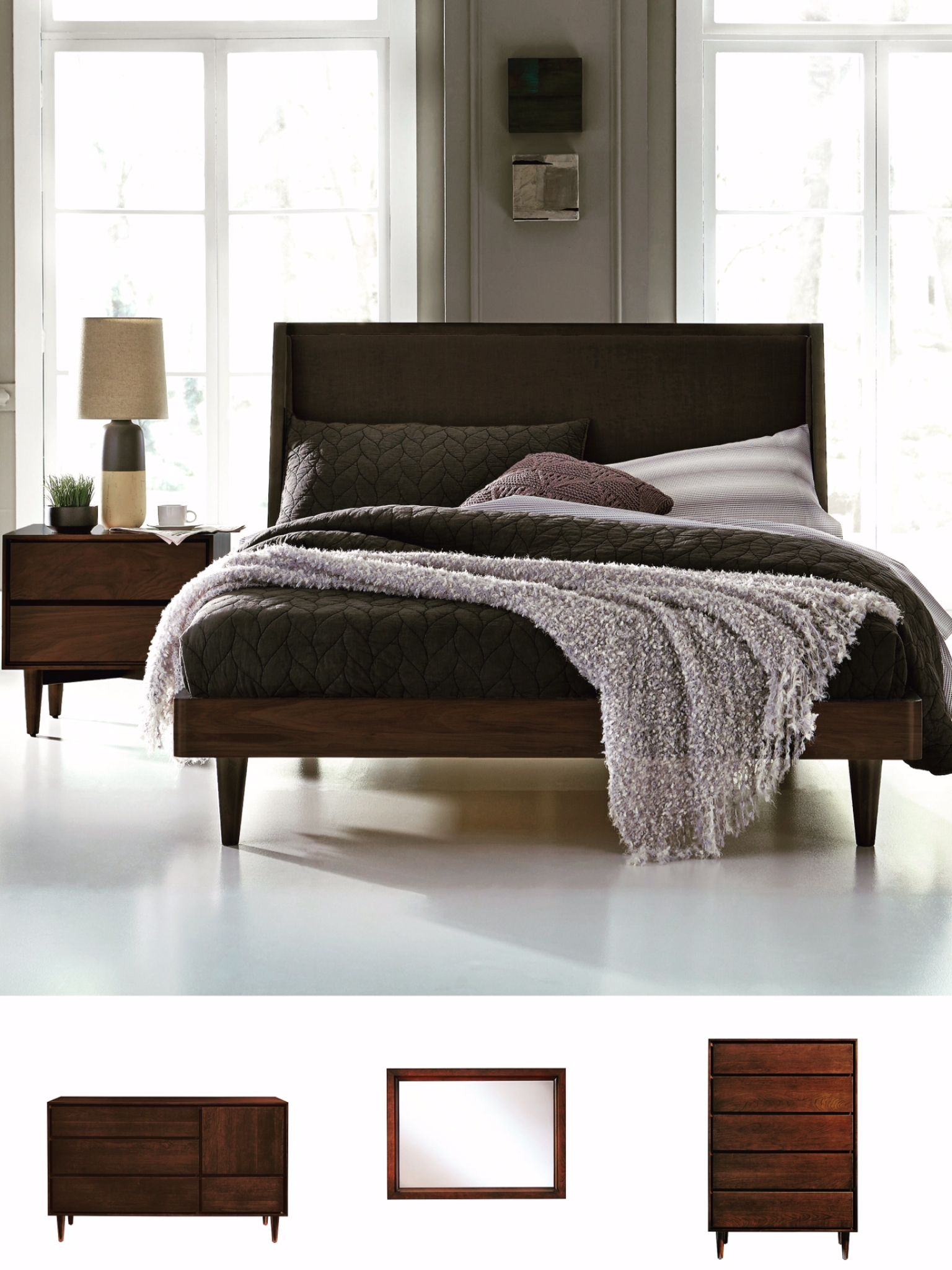 Jensen bedroom in cherrywood by west bros furniture made in canada
