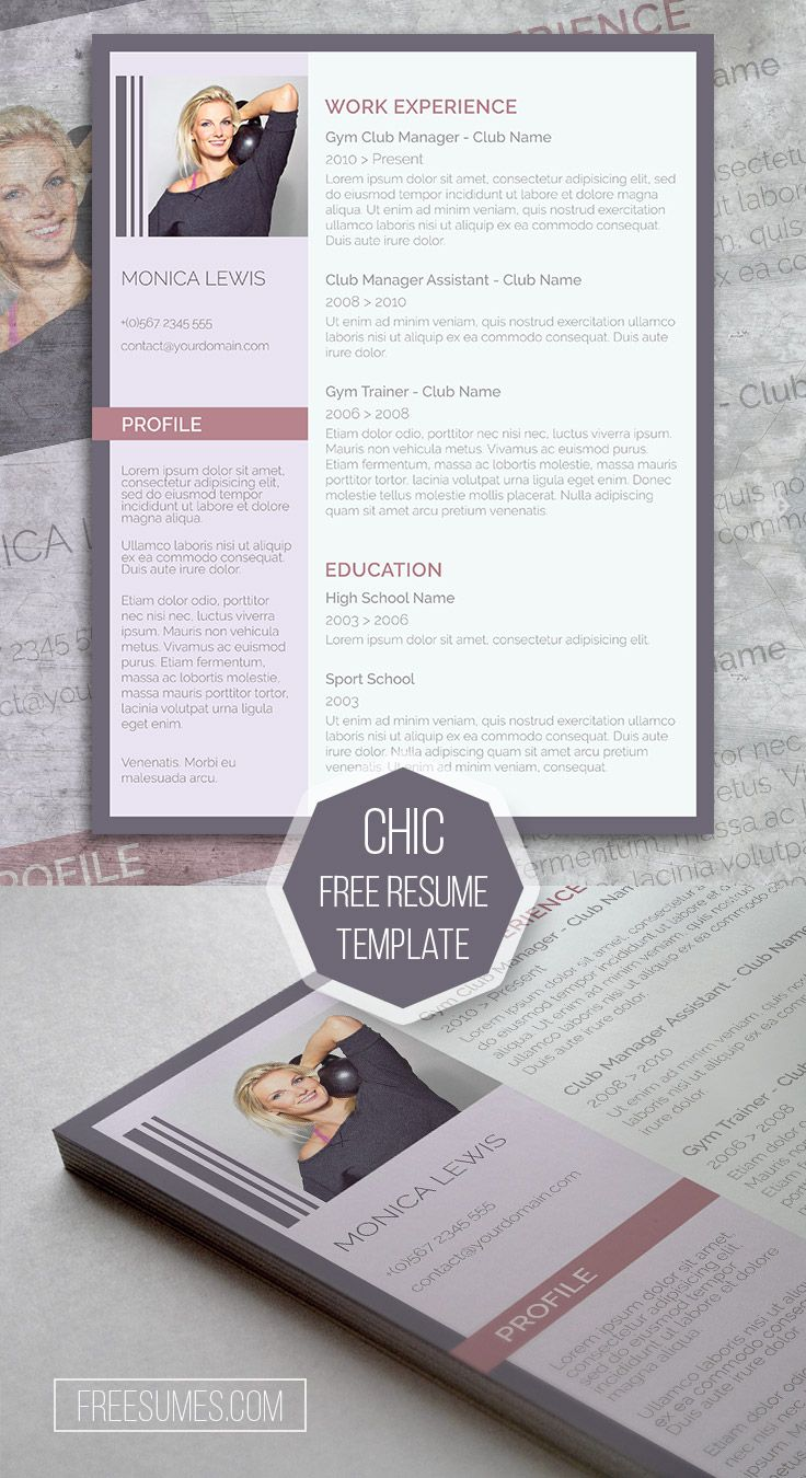 Word CV Template The Chic Applicant