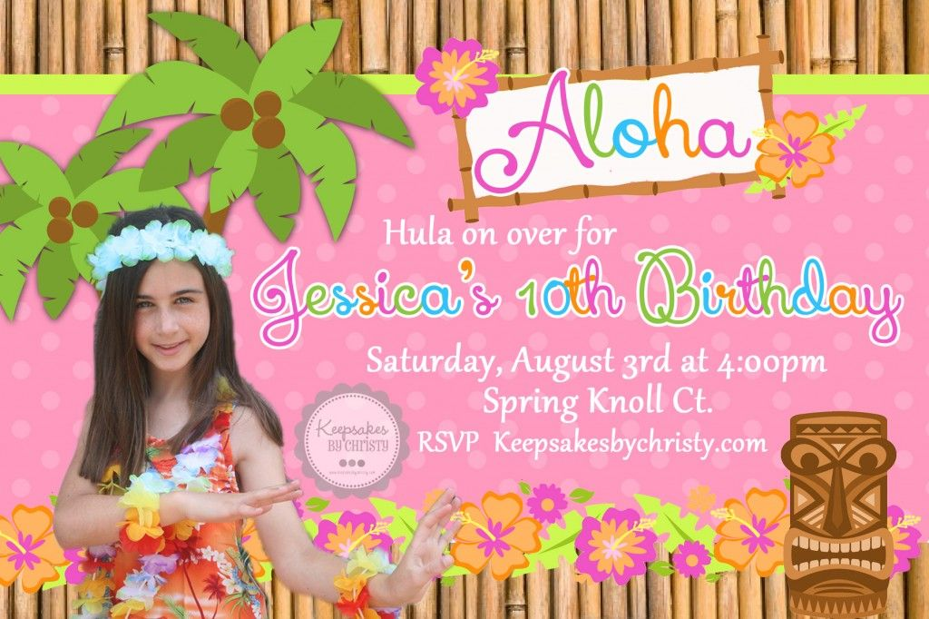 Luau Birthday Invitation Ideas New Invitations Pinterest