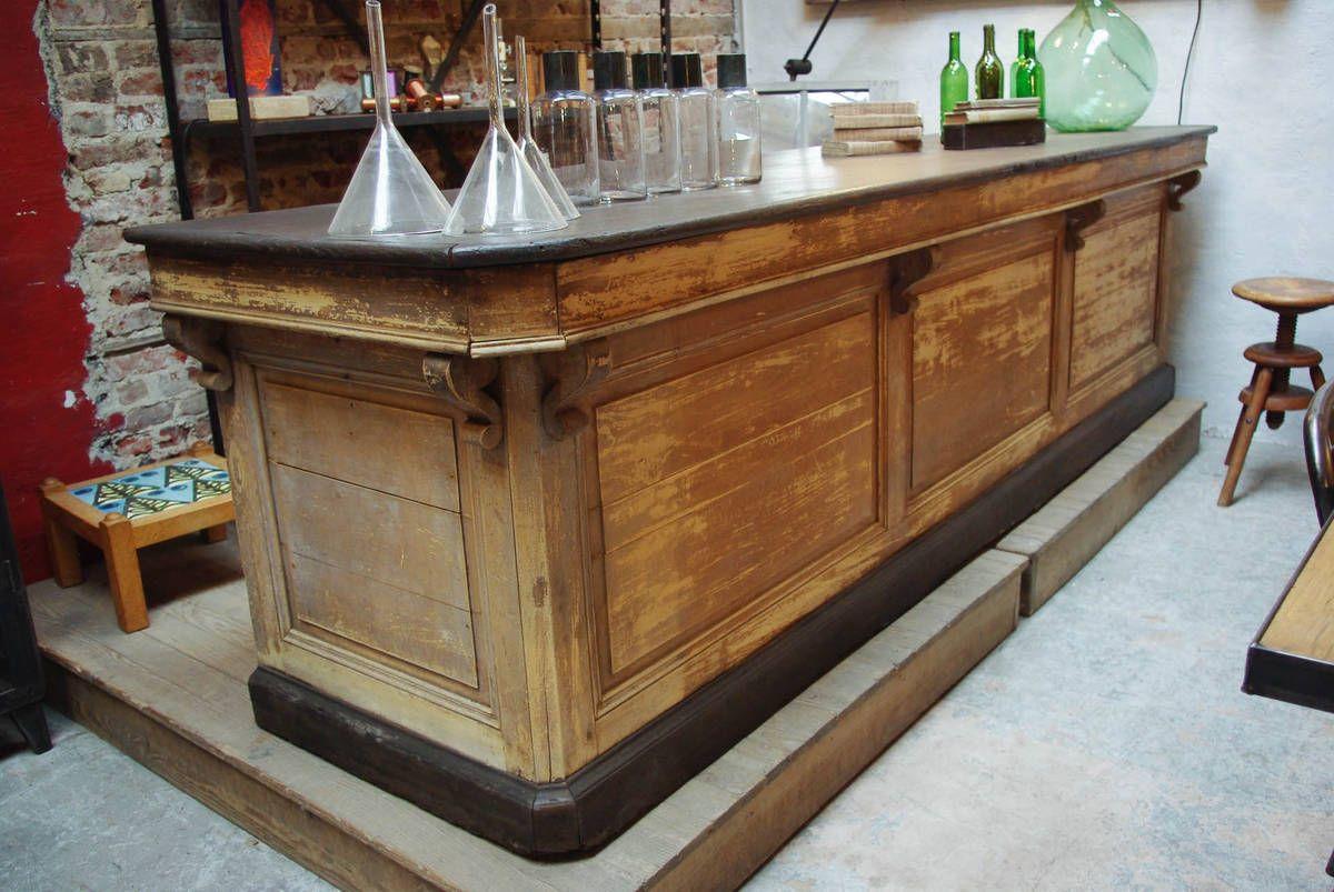 ancien comptoir de caf d but xx me par le marchand d 39 oublis bars. Black Bedroom Furniture Sets. Home Design Ideas