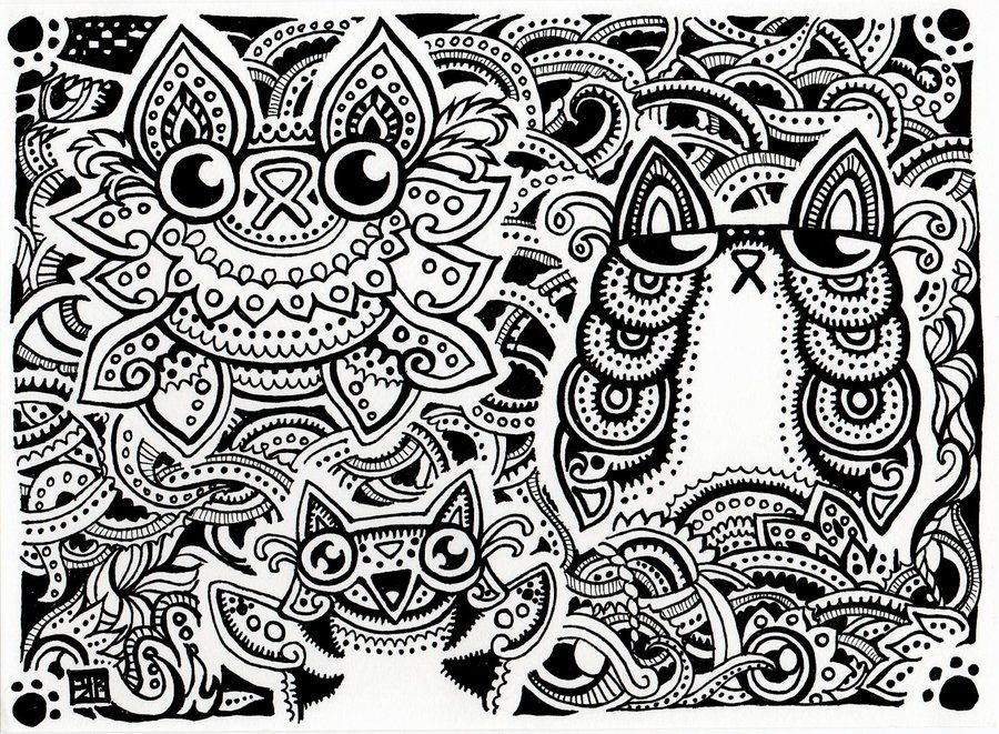 Trippy Coloring Pages | 50 Trippy Coloring Pages | adult coloring ...