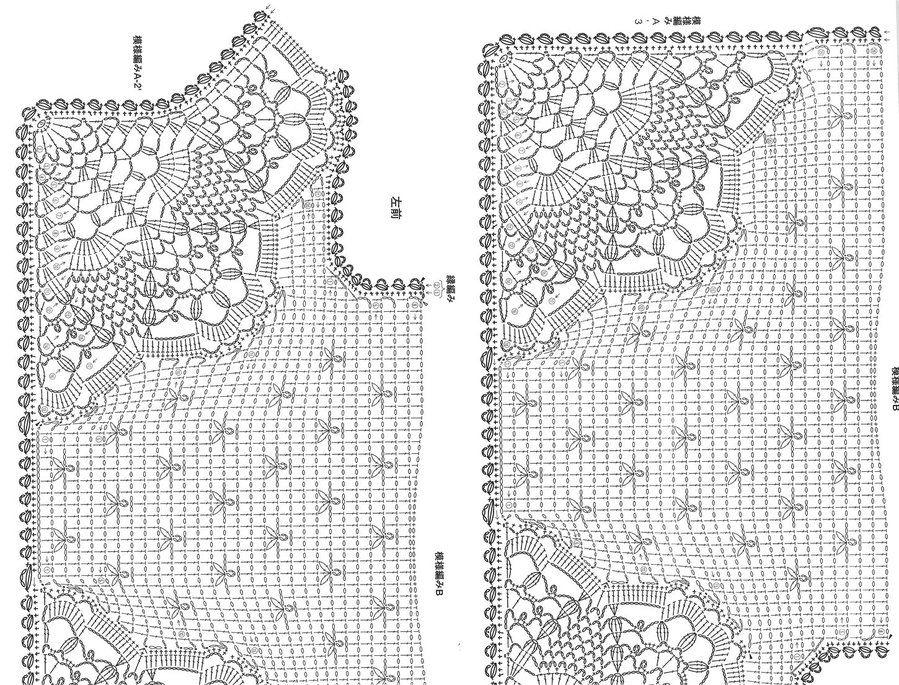 Camiseta con Cuello de Crochet Patron - Patrones Crochet | Motivos ...