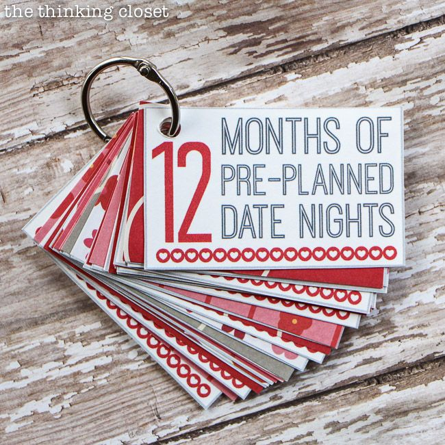 12 Months of Date Nights Gift & Free Printable! - the thinking closet