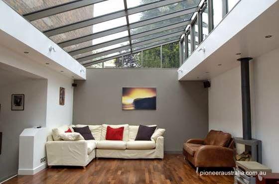 Arquitectura de Casas Techos transparentes y ambientes con luz del - Techos Interiores Con Luces