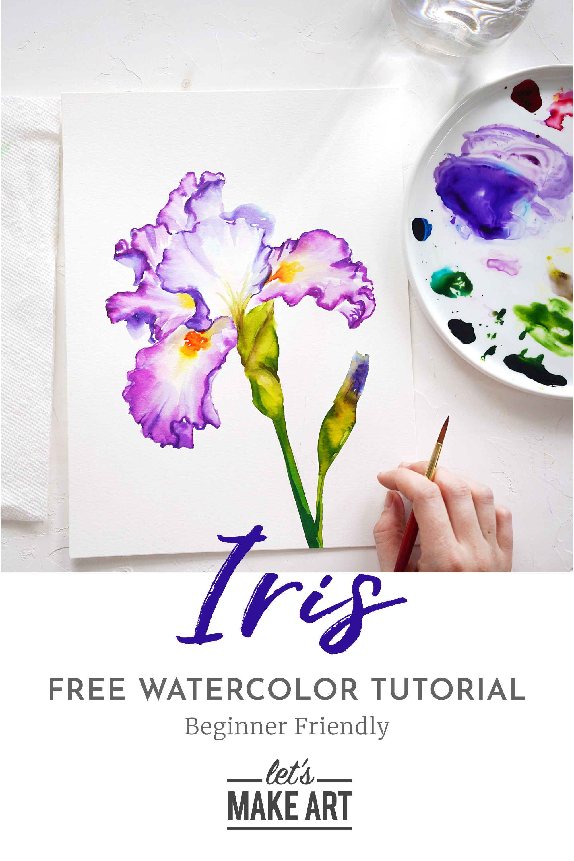 Iris Watercolor Kit In 2020 Watercolor Paintings For Beginners