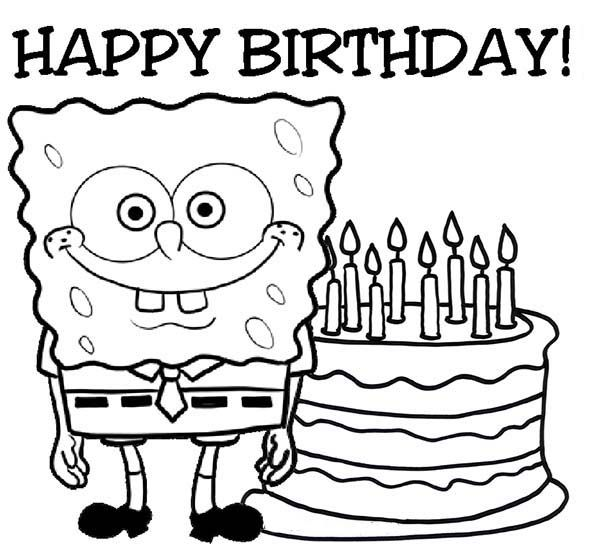 coloring pages happy birthday # 12