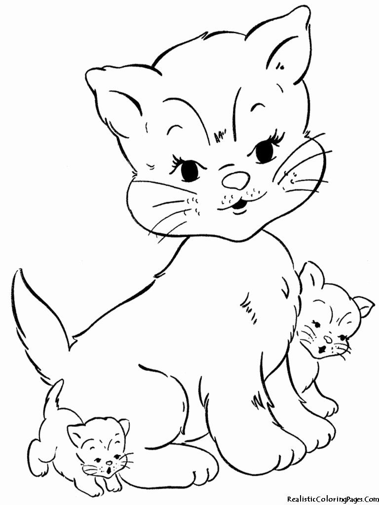 28 Kitty Cat Coloring Page In 2020 With Images Kittens