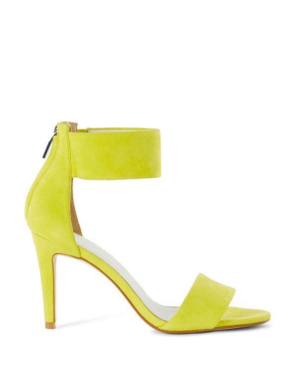 Karen Millen Suede Ankle Cuff High Heel Sandals