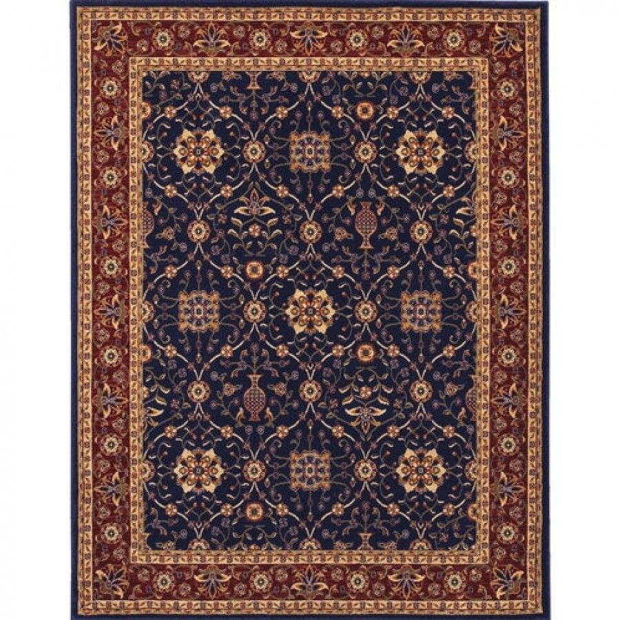 Couristan Traditional Anatolia All Over Vase Navy Red Oriental Rug 2869 0008 Red Oriental Rug Area Rugs Couristan