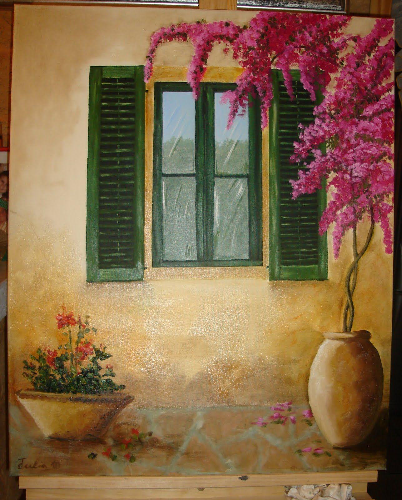 pinturas al oleo ventana buscar con google