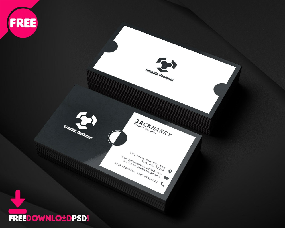 Modern Graphic Designer Business Card Psd Template Freedownloadpsd In Design Graphic Design Business Card Visiting Card Templates Business Card Design Creative