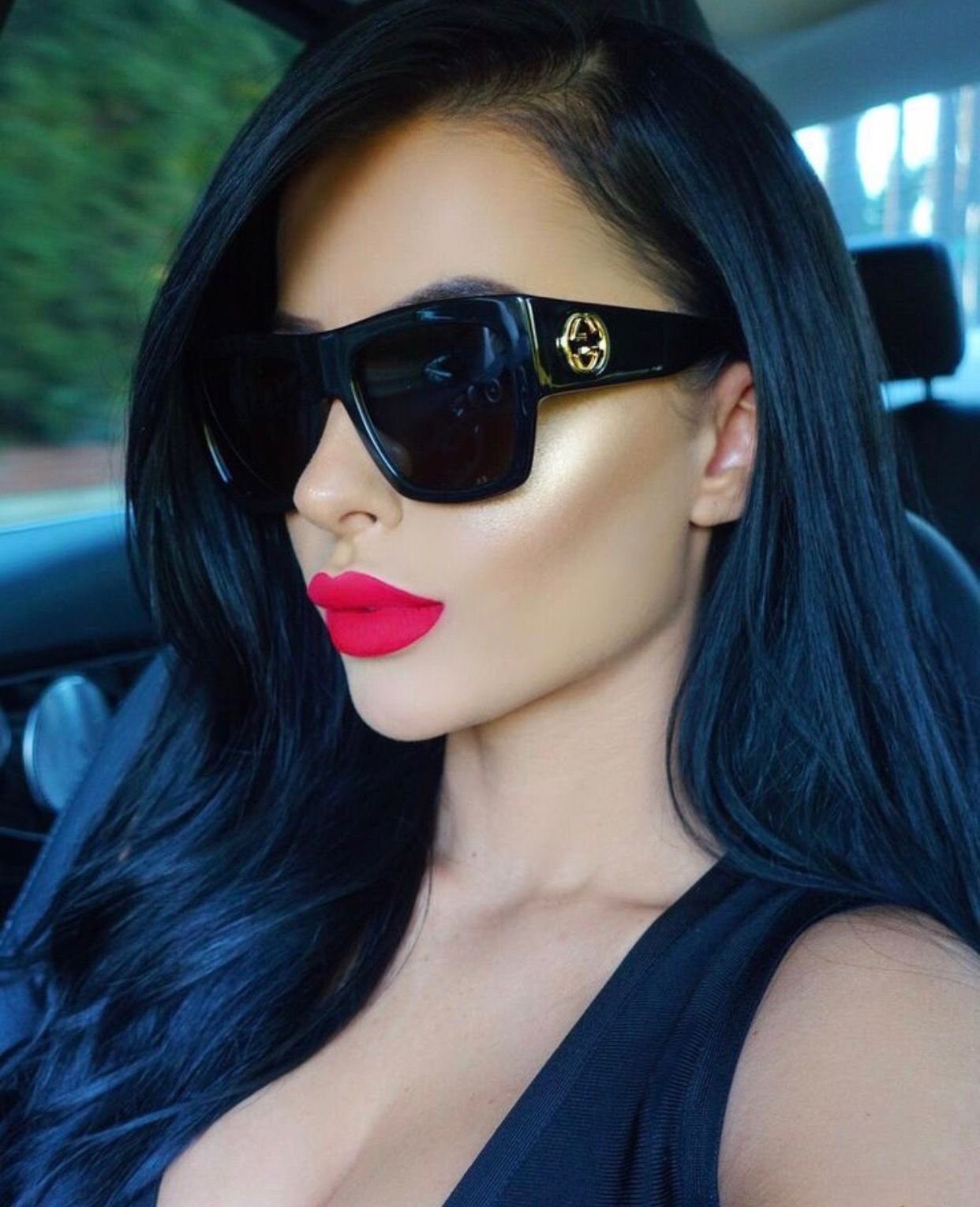 Pin by Kami on Hairstyles | Blue black hair, Hair color ...