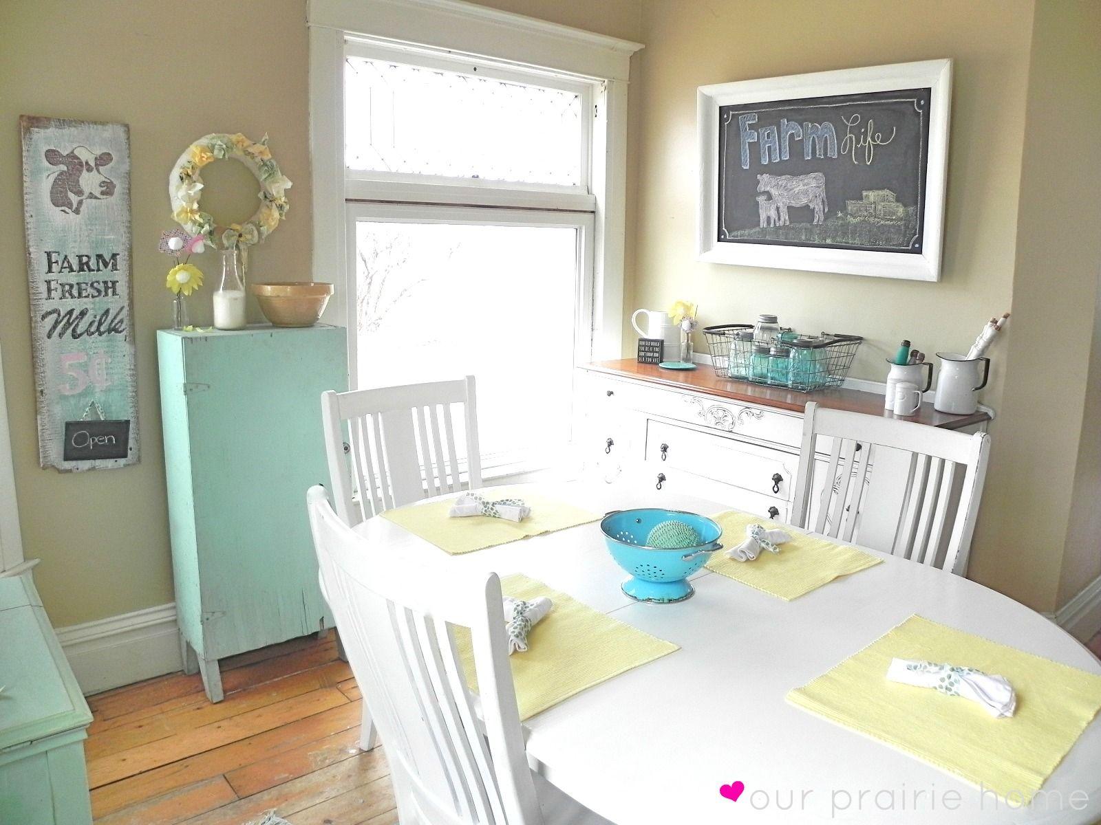 Our Prairie Home: Dining Room {A Reveal}    Fun & fresh farmhouse dining room