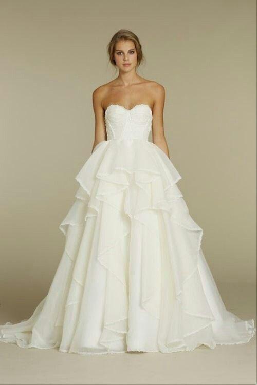 Cool heart-shaped wedding dresses