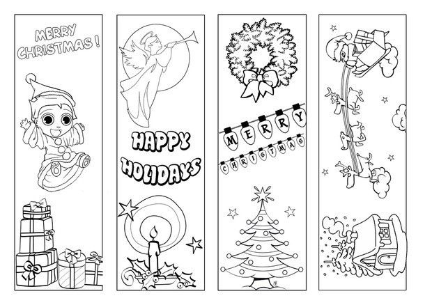 Christmas Bookmark Coloring Page Coloring Bookmarks Christmas Bookmarks Cute Bookmarks