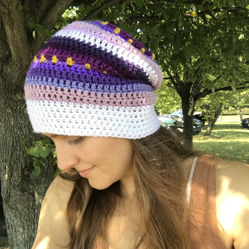 8670fb0881a Free crochet pattern  Slouchy Beanie with video by Olena Huffmire Designs  for Underground Crafter