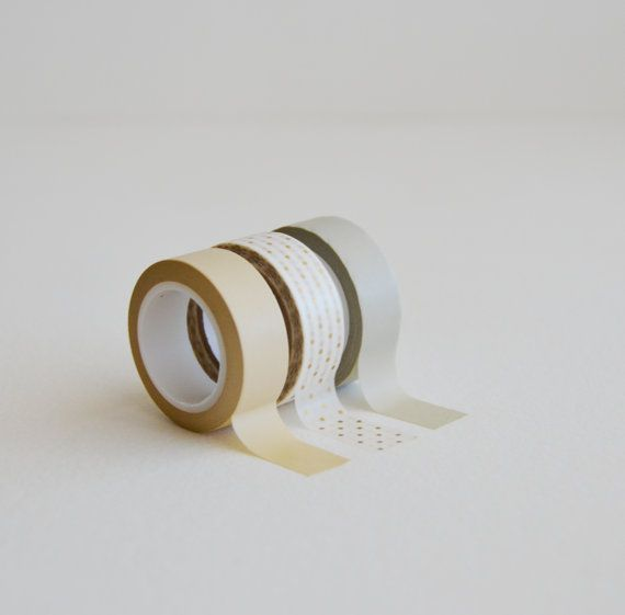 washi tape trio nuetral minded  limited edition by inkkit on Etsy, $12.00