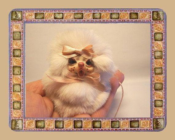 Ooak 3.15 Miniature  Mouse Gnome sculpture by ArtistaToscana