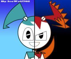Xj 9 Jenny Chaos Jenny Split By Icewolf762 Teenage Robot
