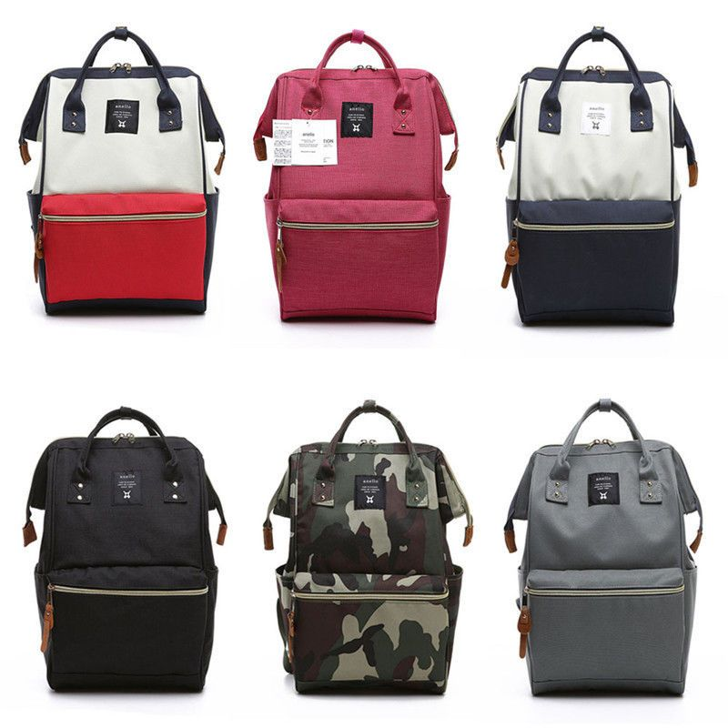 Japan Anello Unisex BIG Capacity Backpack Travel Rucksack School Bag Bookbags
