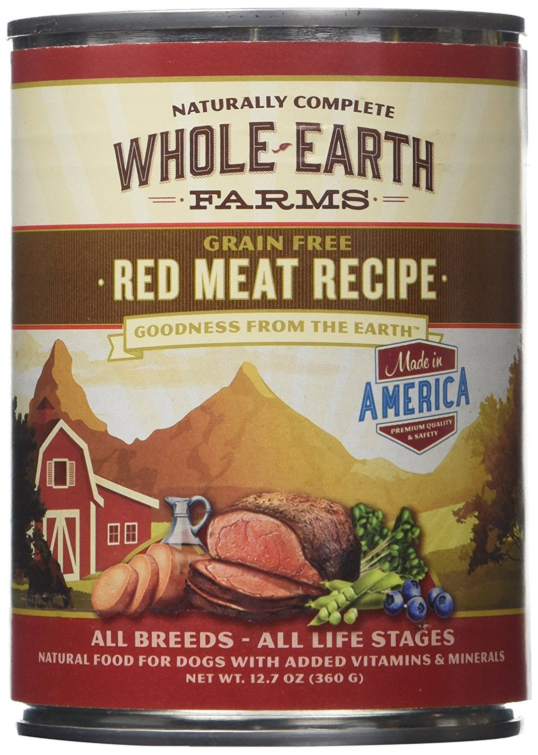 Merrick Whole Earth Farms Red Meat Recipe 12 X 12 7 Oz You