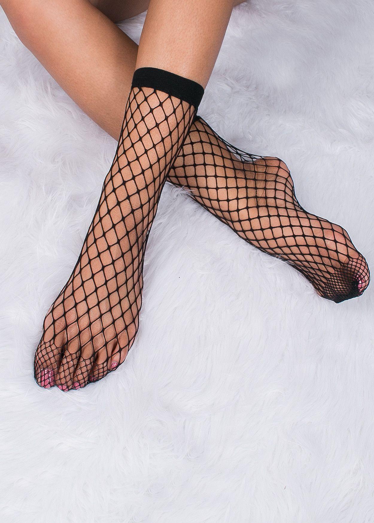 bc058d375 Peggy Pardon Picks - Wide Black Fishnet Socks
