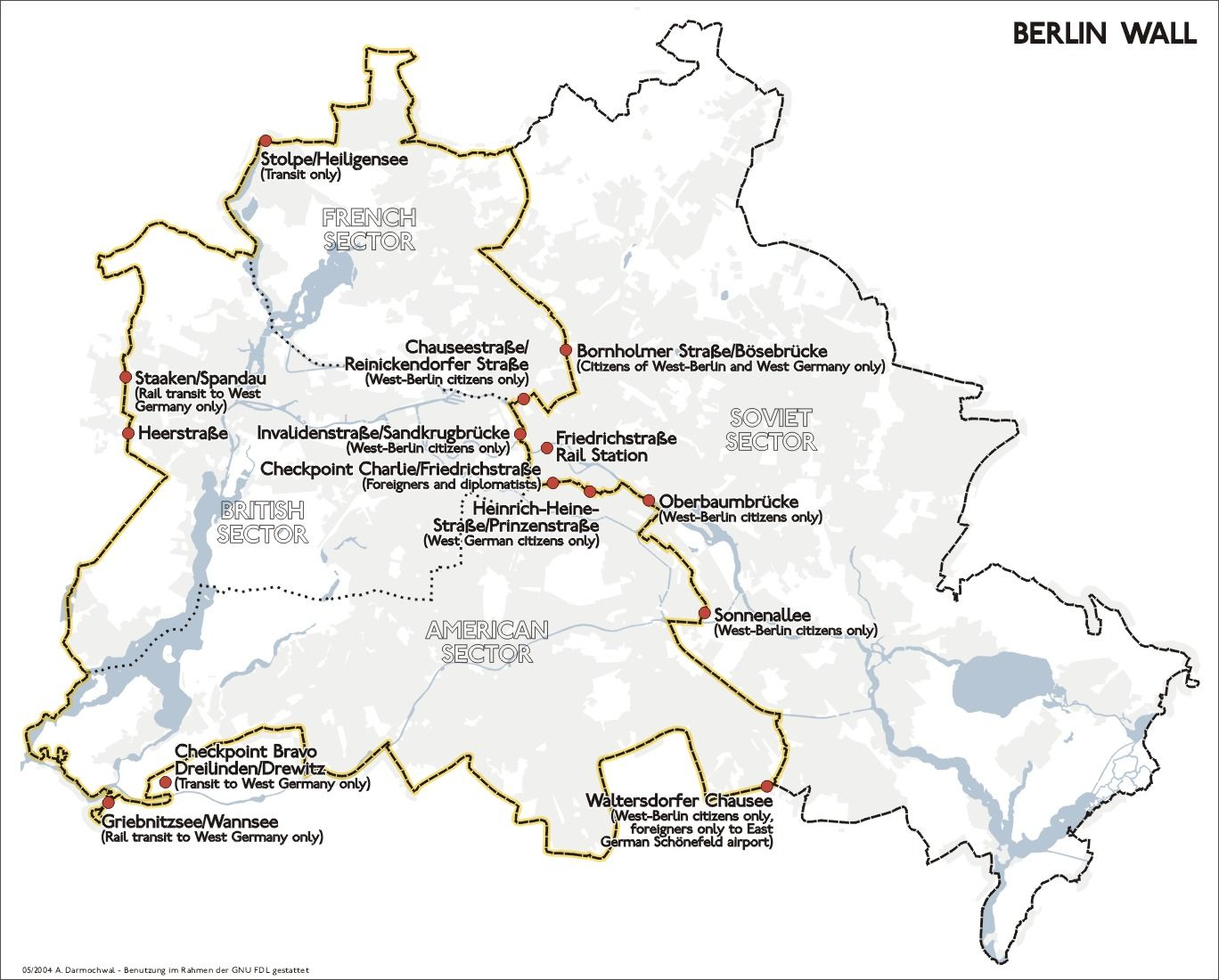 Map Of The Berlin Wall Berlinwall Map Eastberlin Westberlin