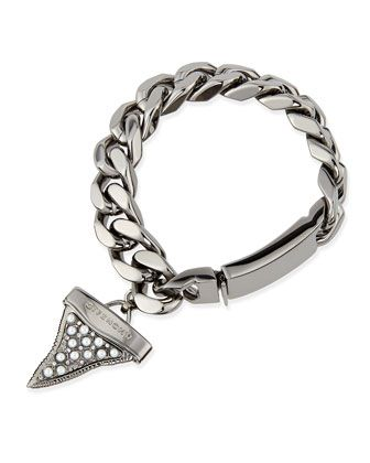 Gunmetal Shark Tooth Bracelet with Pearls by Givenchy at Bergdorf Goodman.